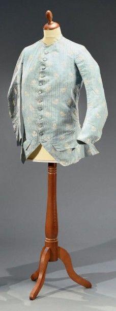 Veste d'habit à basques, vers 1770- 1780,...