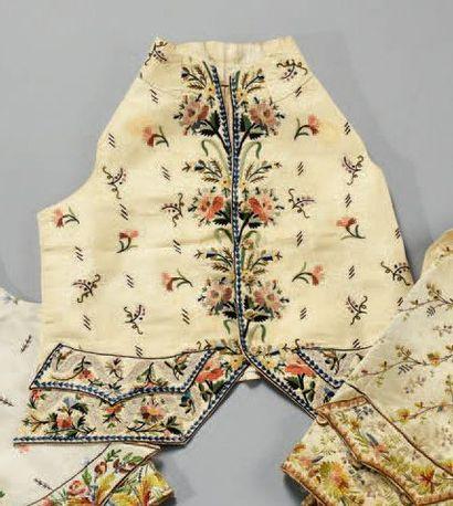 Gilet à basques brodé, fin du XVIIIe siècle,...