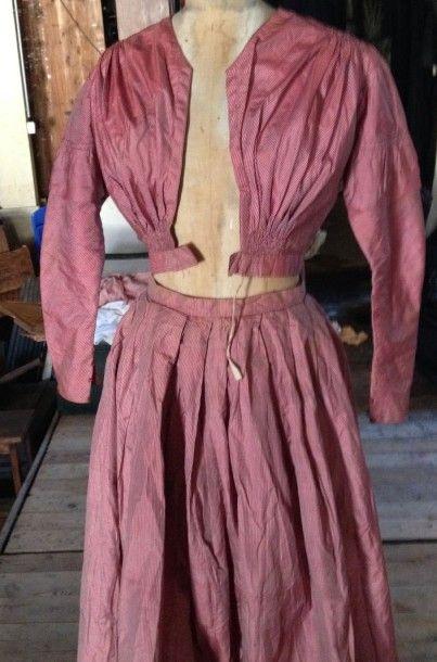 Robe d'après-midi, milieu du XIXe siècle,...
