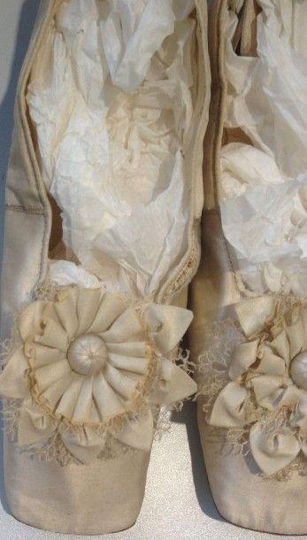 Paire de chaussures de dames, Second Empire,...