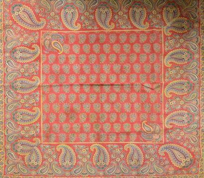Mouchoir de cou, Alsace, Second Empire, toile...
