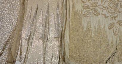 Trois devants et bas de robe du soir brodées, Fritel et Hurel, vers 1920-1925, tulle...