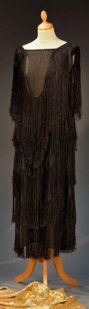 Robe du soir, vers 1925-1930, robe droite...