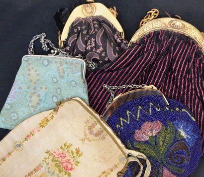 Cinq sacs, 1920-1940 environ, les 3 plus...