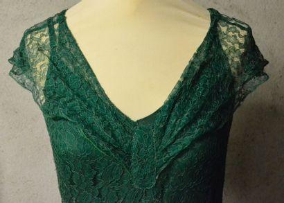 Robe du soir vers 1930-1935, en dentelle...