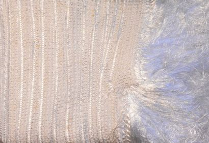 Métrage de frange pour châle, manufacture...