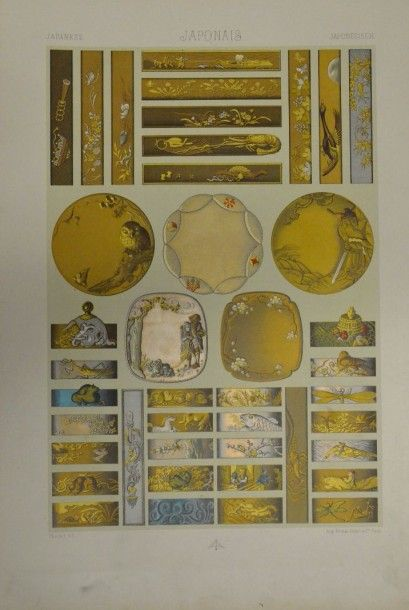RACINET (M.A) L'Ornement polychrome, Firmin-Didot, Paris, s.d (fin du XIXe siècle;...