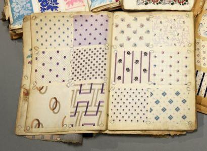 Cahier d'un album d'échantillons d'imprimés...