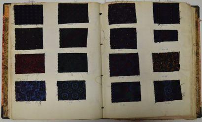 Album d'échantillons pour cravates et écharpes,...