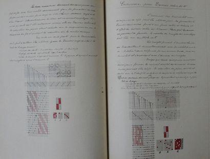 Cour de tissage manuscrits, Lyon, fin du XIXe siècle, un volume consacré au métier...