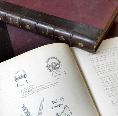 Cour de tissage manuscrits, Lyon, fin du...