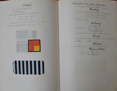 Trois cours de tissage manuscrits, Lyon, années 1896-1897 et 1910-1911, le premier...
