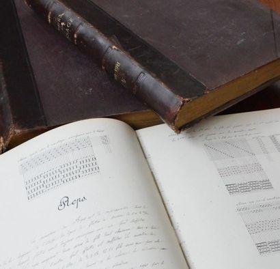 Trois cours de tissage manuscrits, Lyon,...