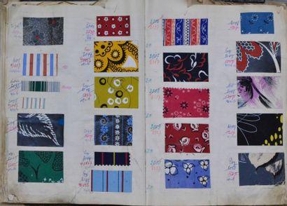 Album d'échantillons pour la mode, vers 1950-1960,...