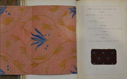 Cours de tissage manuscrits, Lyon 1841 Théorie...