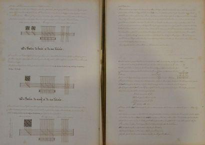 Cours de tissage manuscrits, Lyon 1841 Théorie de la fabrication des étoffes de...