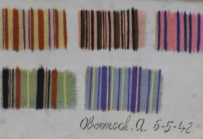Cours de Tissage manuscrit, Lyon, second quart du XIXe siècle, principes théoriques...