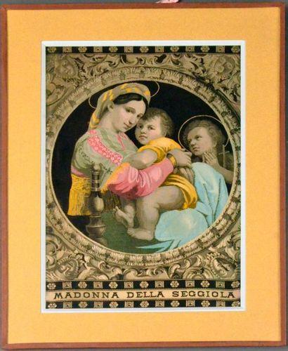 La Vierge à la chaise, fin du XIXe siècle,...