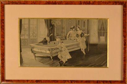 Deux tableaux tissés, Neyret Frères, Saint Étienne, vers 1900, tissages soie en...