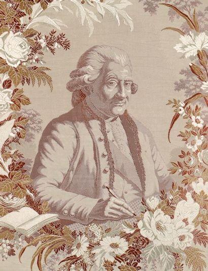 À la mémoire de Philippe de Lasalle, dessinateur du XVIIIe siècle, tissage soie...