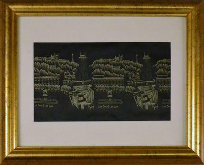 Les Canuts de Lyon, tissage soie en noir...
