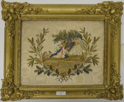 Le Christ au Mont des oliviers, broderie,...