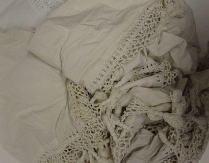 Éléments de garnitures de lit en toile de...
