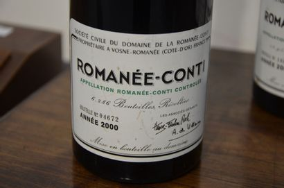 CAISSE ASSORTIMENT OUVERTE COMPRENANT (Caisse Bois) Domaine de la Romanée Conti...