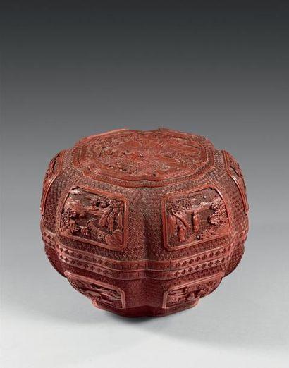 CHINE - Epoque QIANLONG (1736 - 1795)  Boite...