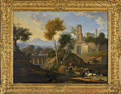 École HOLLANDAISE vers 1680, suiveur de Jan Both