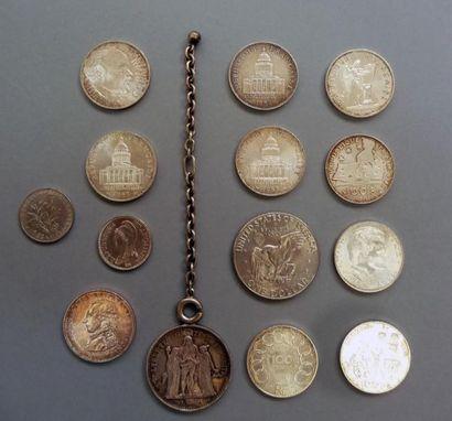 Lot de pièces en argent  - 1 pièce 1 Franc...