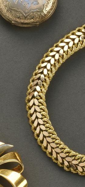 Bracelet maille américaine, en or jaune 18...