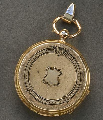Petite montre gousset en or jaune (750/°°),...