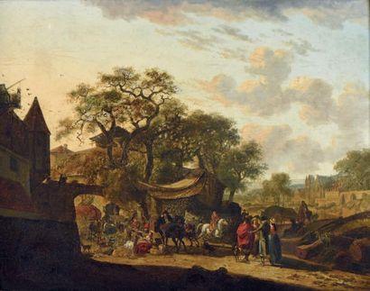 École FRANÇAISE vers 1800, suiveur de Jacques-François-Joseph SWEBACH-DESFONTAINES