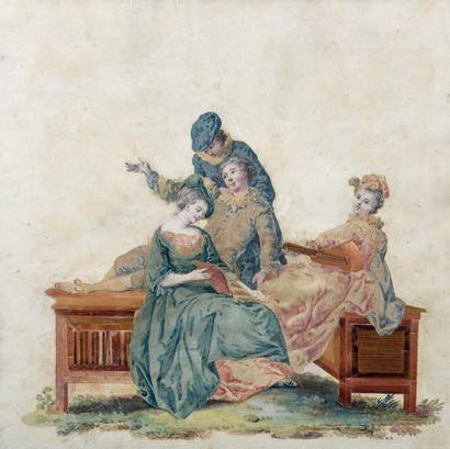 École FRANÇAISE du XVIIIe siècle, dans le goût de Jean-Baptiste LEPRINCE