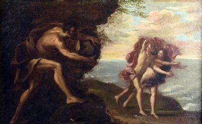 Ecole FRANCAISE du XVIIIe siècle  Adam et...
