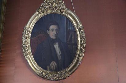 Lucien SCHMIDT (1851-?)  Portrait d'homme...