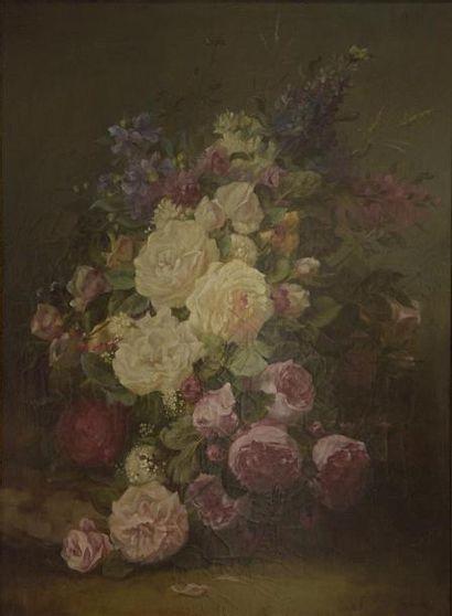 E. DROUET (XIXe - XXe siècle)  Jeté de roses...