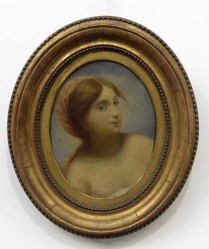 Ecole FRANCAISE du XIXe siècle  Femme au...