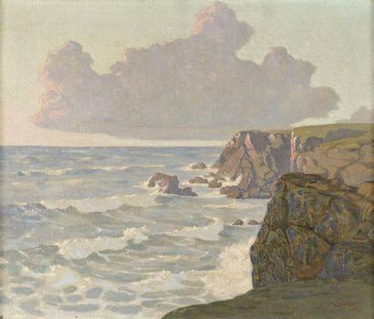 Louis CYLKOW (1877-1934)  Falaises en bord...