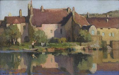 Émile WEGELIN (1875-1962)  Bord de marais...