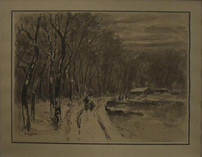 Joannes DREVET (1854-1940)  Promeneur au...