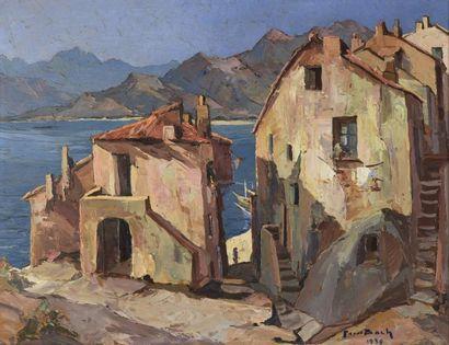 Pierre BACH (1906-1971)  Calvi  Huile sur...