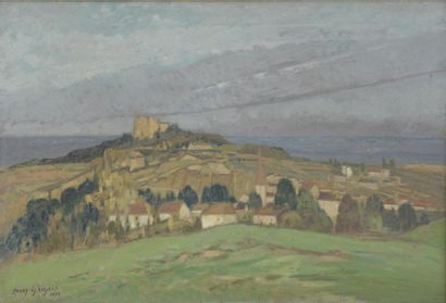 Henry GROSJEAN (1864-1948)  Vue de Crémieux...