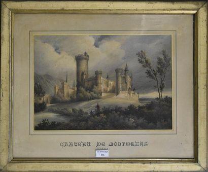 ECOLE FRANCAISE du XIXe siècle  Le château...