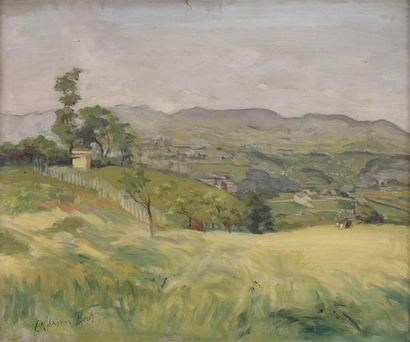 Adrien BAS (1884-1925)  Paysage des Monts...