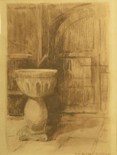 M.M. BISSON BARBIER (XXe siècle)  La grille...