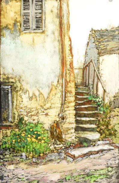 Jean BARBIER (1901-1999)  Les escaliers -...