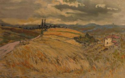 Jean BARBIER (1901-1999)  Paysage du Lyonnais...