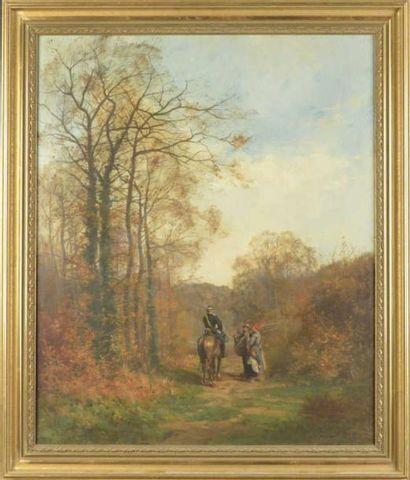 Fernand LABRUYERE (XIXe siècle)  Le garde...